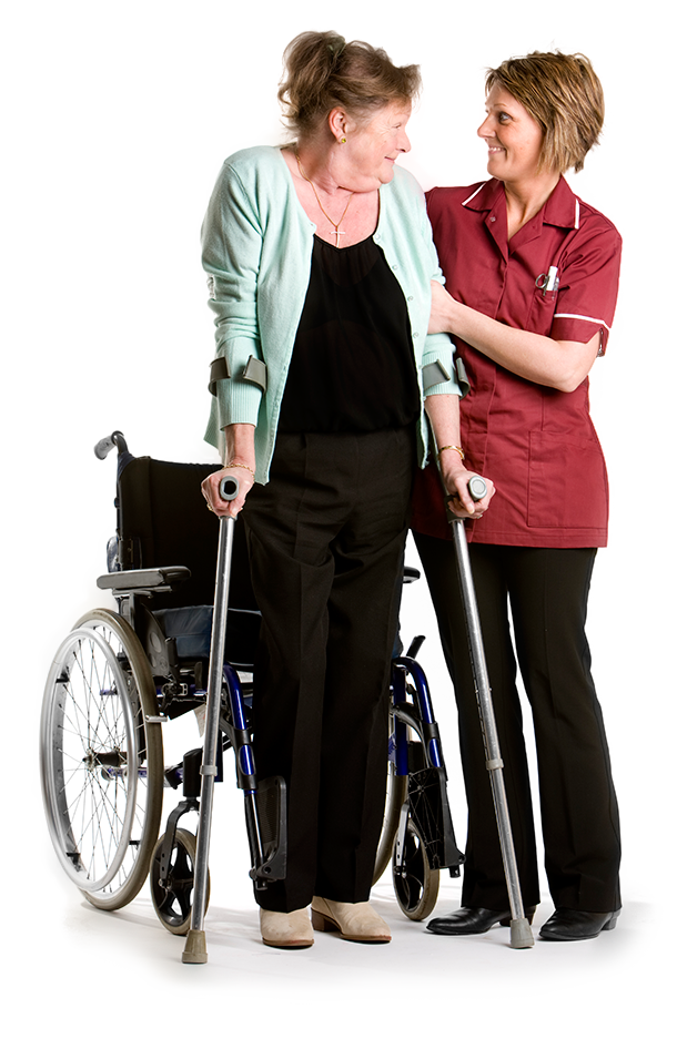 Healthcare Worker Helping person with disabilities